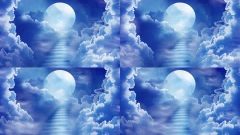 天空月光唯美天梯