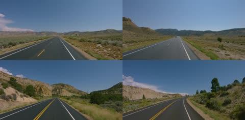 公路快速行驶前行第一视角