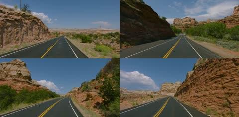 公路快速行驶前行第一视角系列