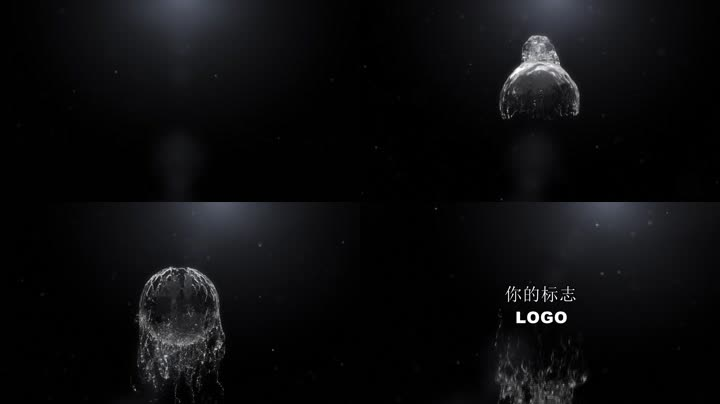水流特效LOGO标志演绎片头