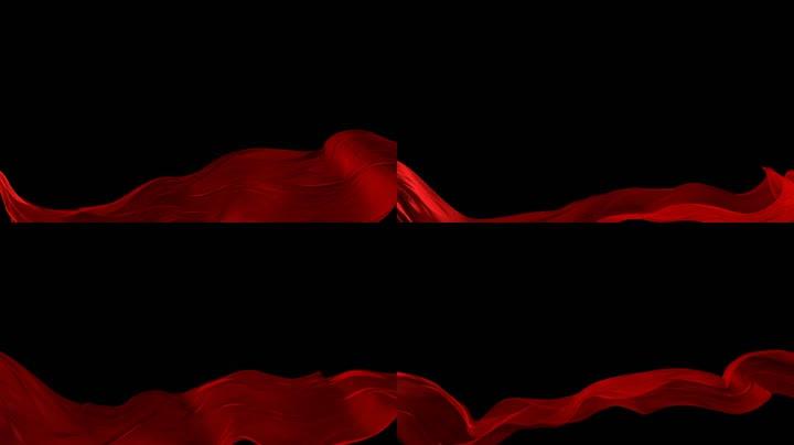 红绸飞舞合成通道循环