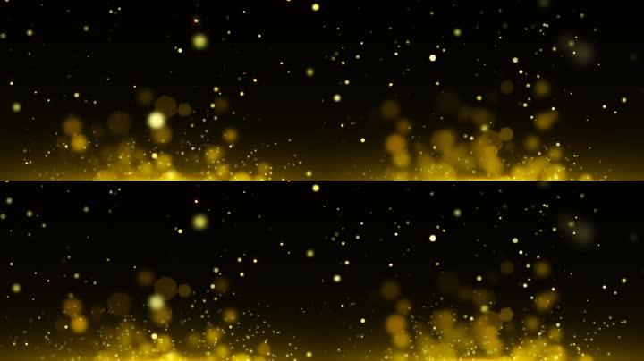 金色唯美抒情粒子光斑合成