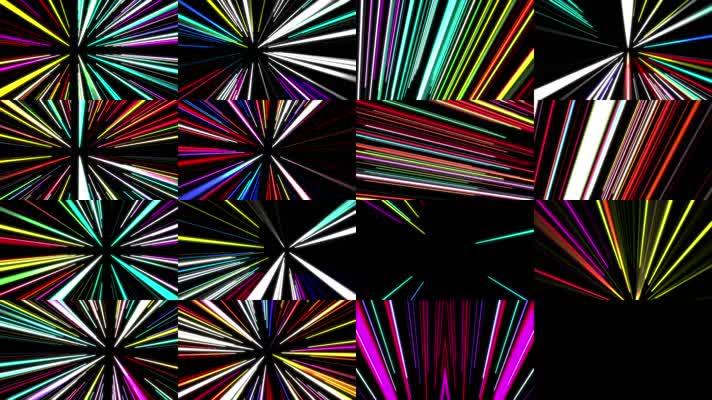 多彩霓虹线条合集8段
