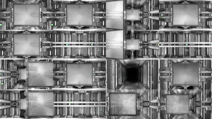 8款黑白机械动态背景
