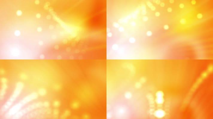 3组梦幻橙色光斑背景