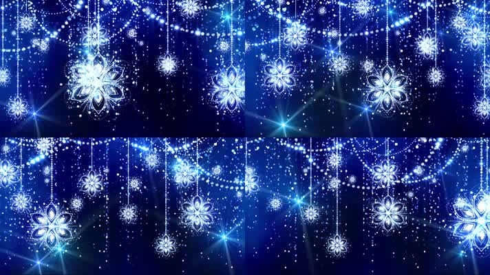 唯美蓝色水晶花瓣led背景