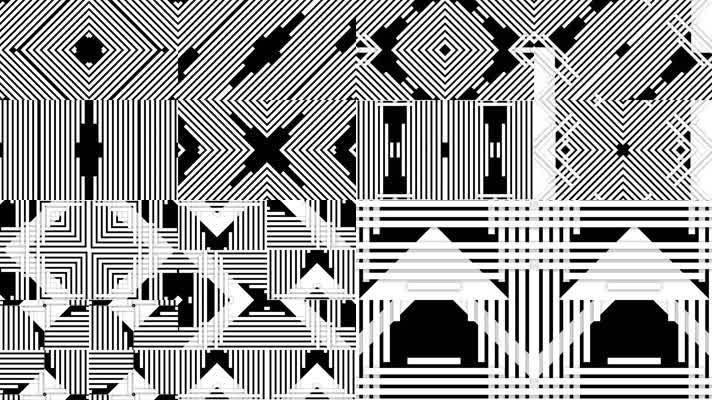 10段黑白图形动画合集