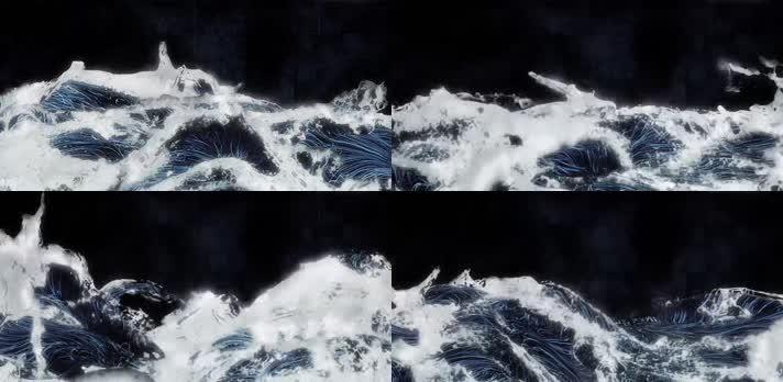 海洋海浪水花