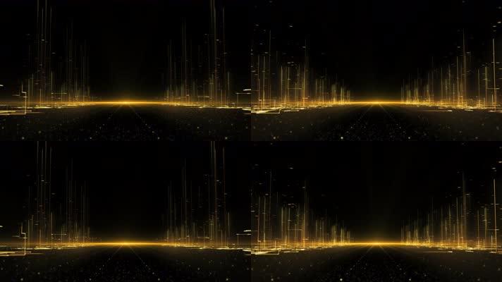 【4K】大气金色城市未来之路