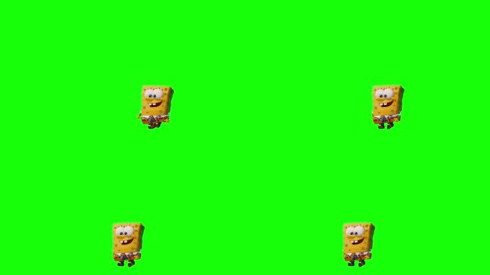 绿屏抠像视频素材海绵宝宝