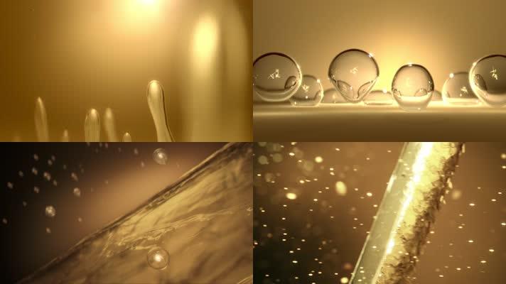金色粒子光效气泡头发护理营养补充栏目包装