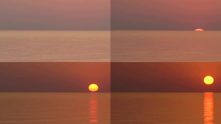 大气海上日出
