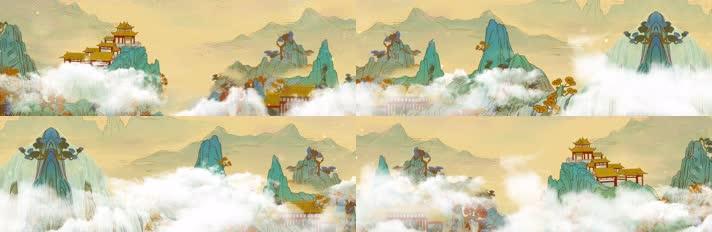 古典山水背景大屏幕