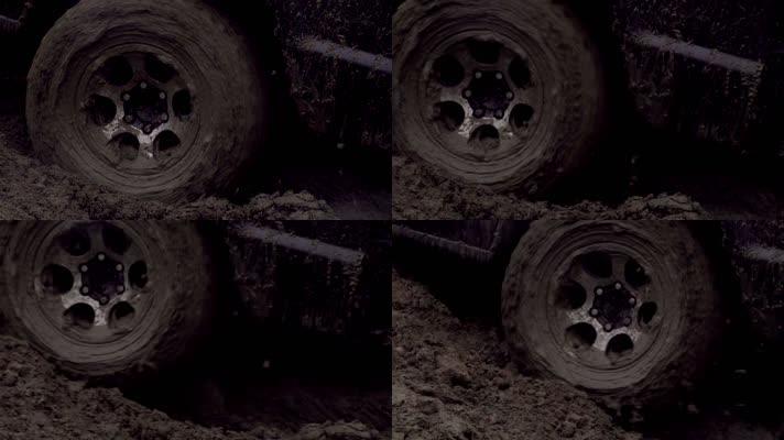 车辆陷入淤泥下乡走基层