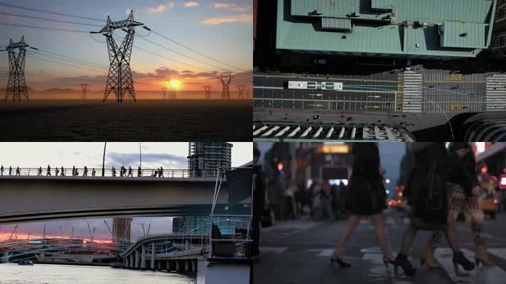 电力光线穿梭能源科技宣传片