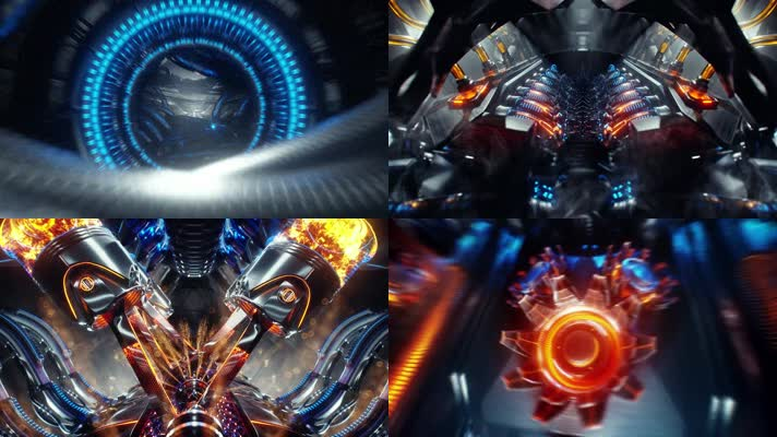 引擎 启动 科幻 游戏场景 发动机内部