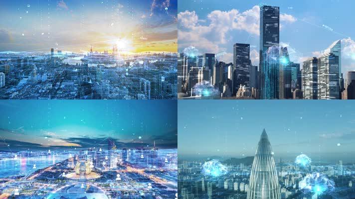 【原创】科技互联网城市-特效合成(可商用)
