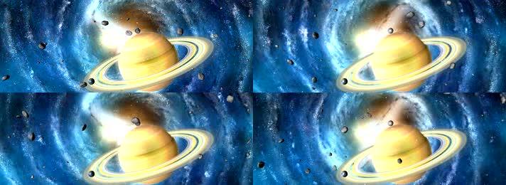 新版宽屏光年之外土星通用背景