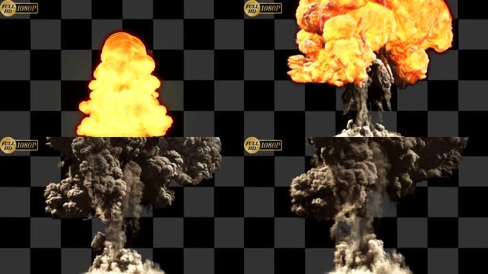 喷火 火焰 alpha透明通道 烟雾