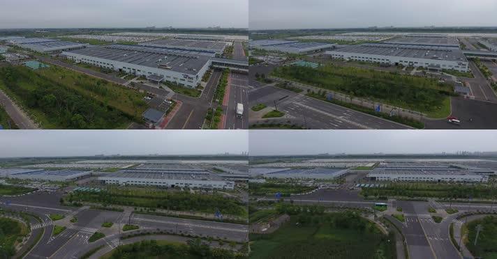 4k航拍现代工业产业工业园