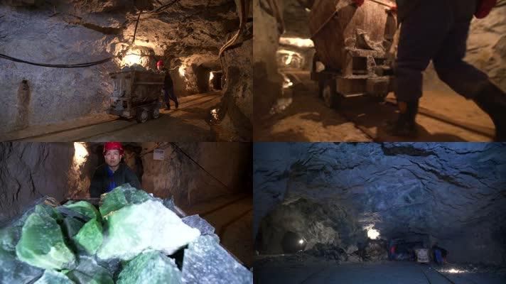 玉石矿井下玉矿开采运输