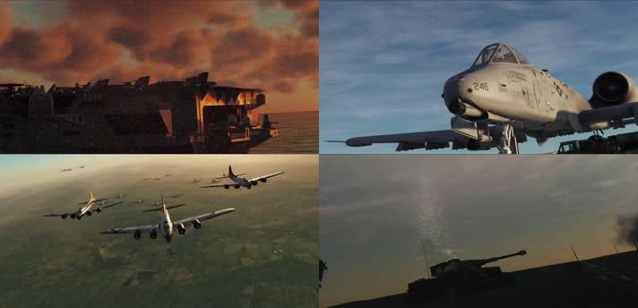 战争动画,战场战机,战斗机合集