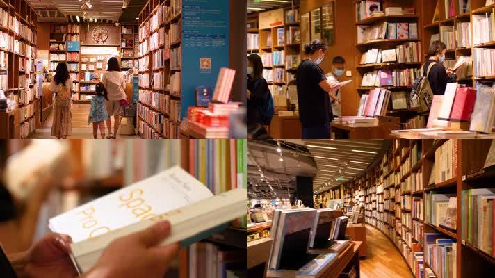 城市书店广州方所4k视频素材
