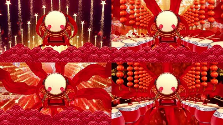 震撼大气红色喜庆开场舞舞台背景音乐素材