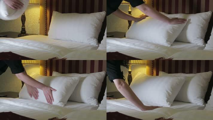 家政酒店服务整理房间