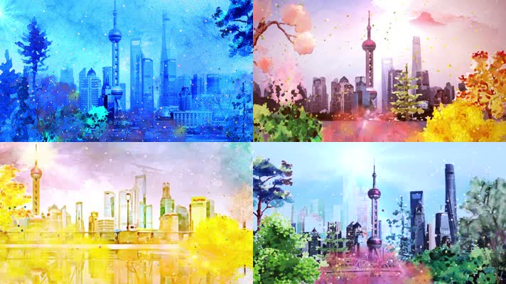 上海歌舞团晨光曲舞台场景背景大屏素材