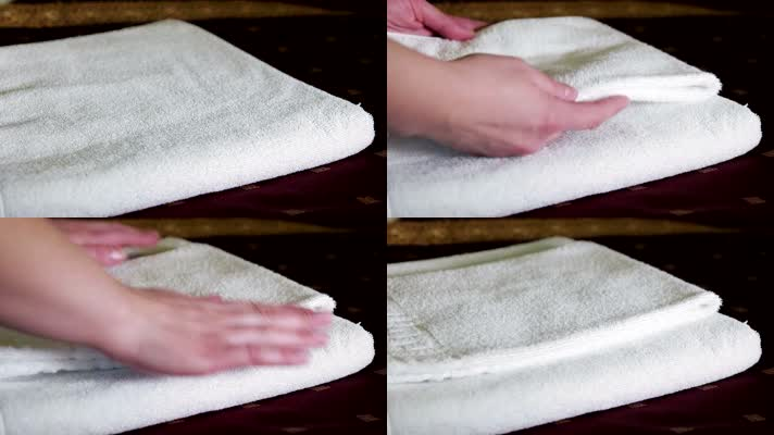 贴心服务,白色毛巾