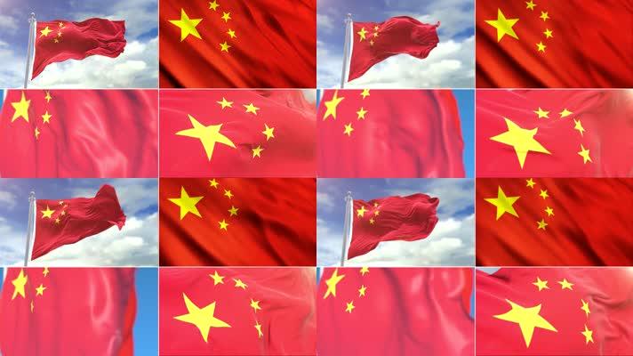 旗帜飘扬素材包