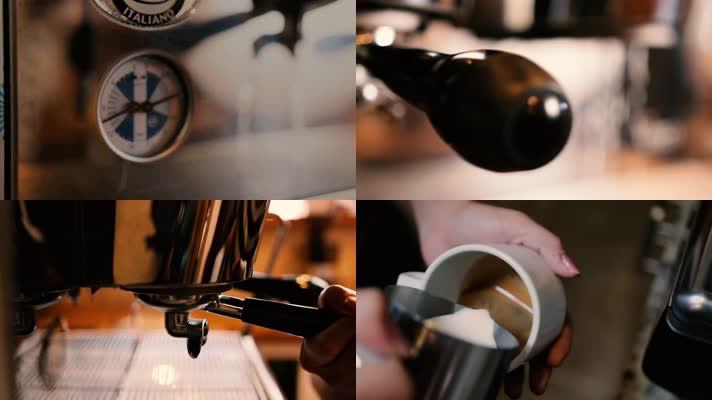 手工咖啡,冲咖啡,镜头快切