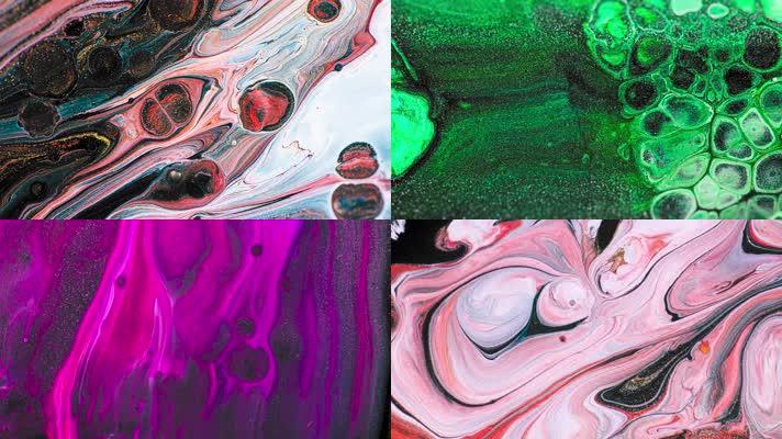 流体液体,交融流动,创意视觉