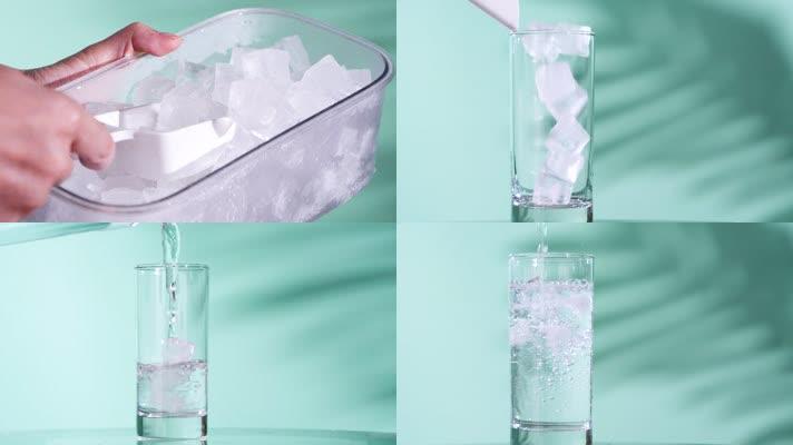 夏日冰饮冰水解暑视频素材