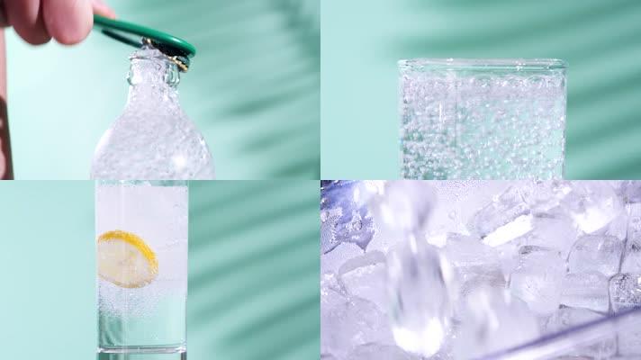 夏天柠檬雪碧冰爽汽水冷饮视频素材