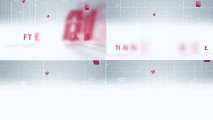 312红色科技文字标题