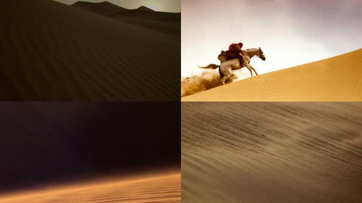 唯美沙漠实拍航拍