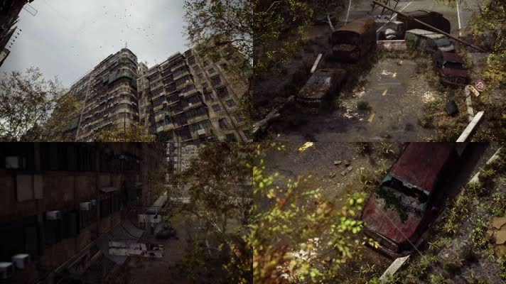 【4K】废弃的城市