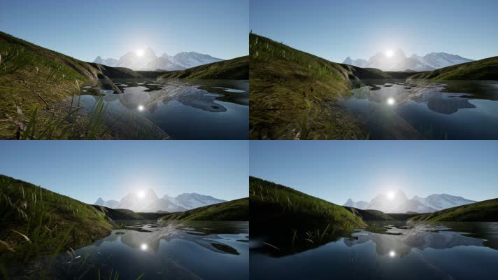 【4K】雪山湖泊