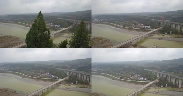 航拍长水洛河大桥01