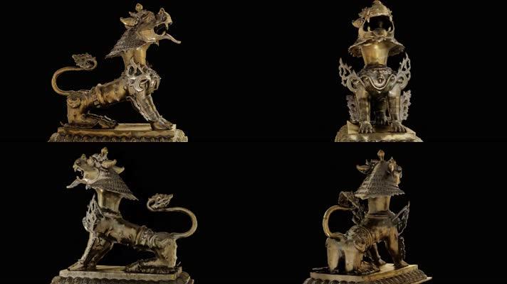 【4K】狮子雕塑