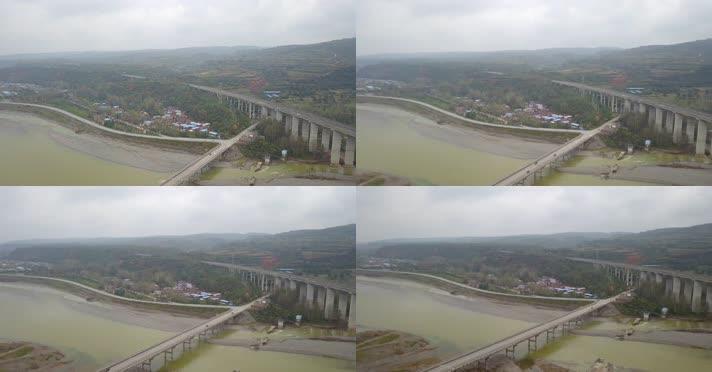 航拍长水洛河大桥