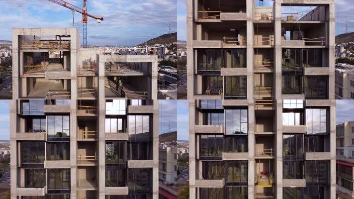 高层建筑施工工地