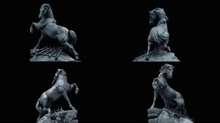 【4K】战马雕像